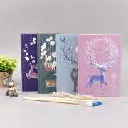 Deer Antler Hardcover Mixed Notebook