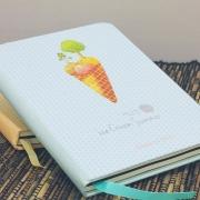 Ice Cream Summer Hardcover Mixed Notebook
