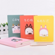 Lovely Animal World Hardcover Mixed Notebook
