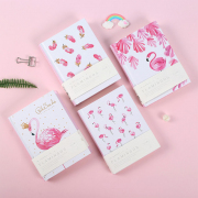Pink Sands Flamingo Hardcover Mixed Notebook A6