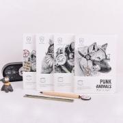 Punk Animals Mixed Notebook