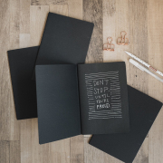 Black Paper Plain Notebook A5