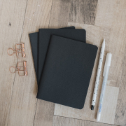 Black Paper Plain Pocket Notes