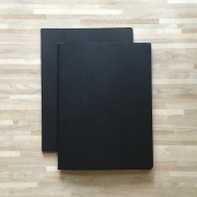 Black Paper Plain Notebook B5
