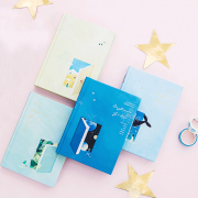 Daydream Girl Hardcover Plain Notebook B6