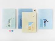 Daydream Girl Thick Plain Notebook