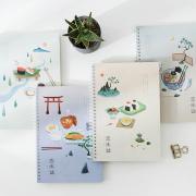 Japanese Dinner Spiral Ruled Notebook B5