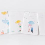 Kiss The Rain Ruled Notebook B5