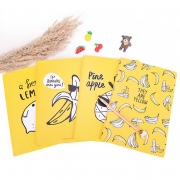 Cool Yellow Fruit Ruled Notebook B5