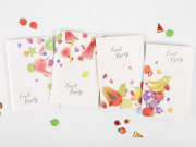 Fruit Party Ruled Notebook
