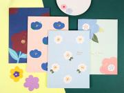 Hyuna Flower Ruled Notebook B5