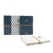 Ocean Voyage Leather Ruled Notebook