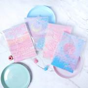 Pink Dream Quicksand Ruled Notebook A5