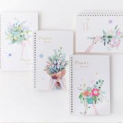 Floras Garden Spiral Ruled Notebook A5