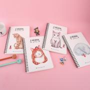 Garden Kitty Spiral Ruled Notebook A5