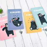 Kumamon Colorful Spiral Ruled Notebook A5
