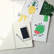 All You Need Is Fruit Spiral Ruled Notebook