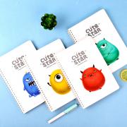Cute Star Fuzzy Monster Spiral Ruled Notebook B5