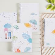 Kiss The Rain Spiral Ruled Notebook B5