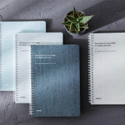 Minimalism Spiral Ruled Notebook