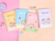 Candy Girl Diary Spiral Ruled Notebook A5