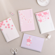 Cherry Blossom Spiral Ruled Notebook