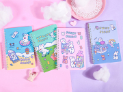 Cotton Rabbit Spiral Ruled Notebook A5