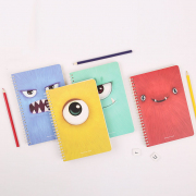 Cute Star Fuzzy Closeup Spiral Ruled Notebook A5