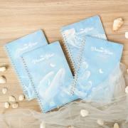 Dream Blue Spiral Ruled Notebook A5