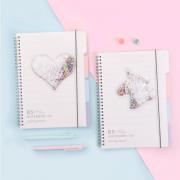 Fairy Tale Quicksand Spiral Grid Notebook