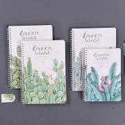 Green World Spiral Ruled Notebook
