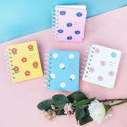Hyuna Flower Spiral Ruled Notebook Mini