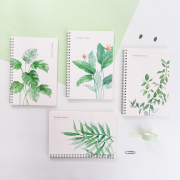 Natural Leaves Spiral Ruled Notebook