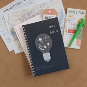 One Light Bulb Spiral Ruled Notebook B5