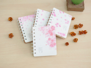 Sakura Flower Spiral Ruled Notebook A7