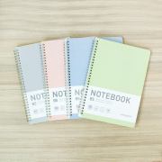 Sporty Pastel Spiral Ruled Notebook