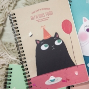 The Cats Dinner Spiral Ruled Notebook