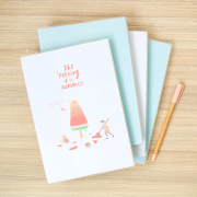 Summer Taste Thick Ruled Notebook