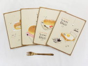 Yummy Bread Ruled Notebook