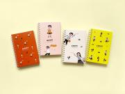 Peekmybook Blanks and Stripes Spiral Notebook A5