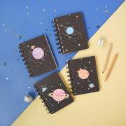 Planetary Romance Spiral Plain Notebook A7
