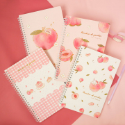 Paradise of Peaches Spiral Ruled Notebook