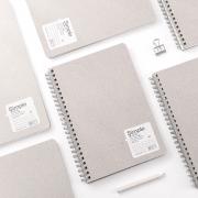 Simple Grey Sand Spiral Notebook