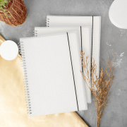 Simple Style Clear Spiral Notebook B5