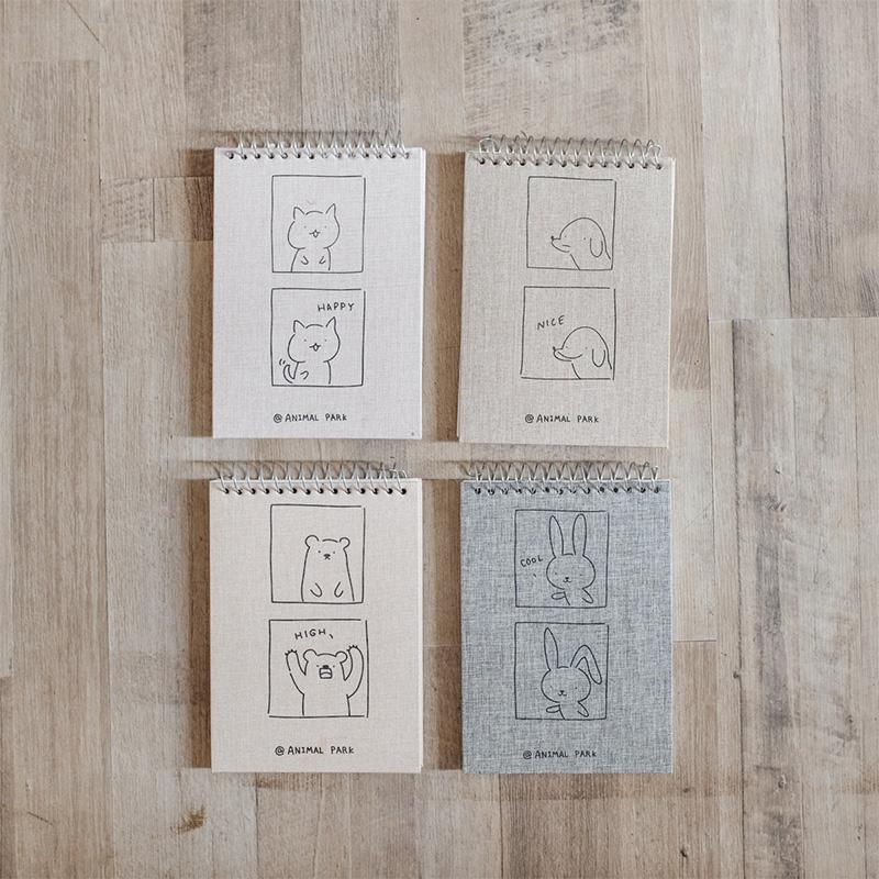 Animal Park Canvas Cover Notepad Panmomo Belanja Online Barang Unik Dan Lucu