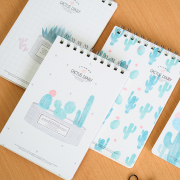 Cactus Diary Spiral Grid Notepad A5