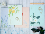Fragrance of Life Plain Notepad B5