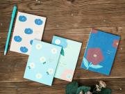 Hyuna Flower Plain Notepad