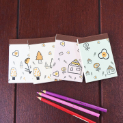 Kids Drawing Mini Plain Notepad