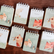 Best Friends Animal Spiral Ruled Notepad A7